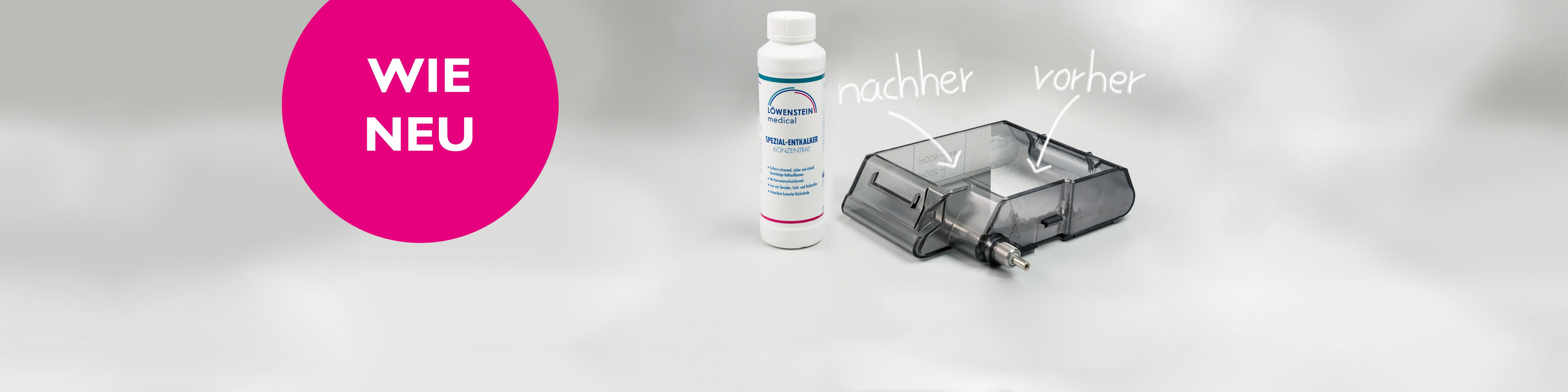 Kaffeemaschine CPAP Befeuchter entkalken Entkalker Kalk Rückstände